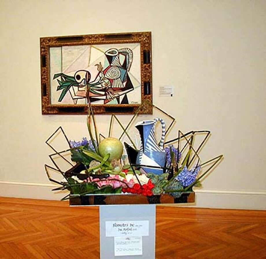 Pablo Picasso (Spanish, 1881-1973), Still Life with Skull, Leeks, and Pitcher, 1945, Oil on canvas.  Sue Morford, AIFD � Bloomster�s Inc., San Jose, CA Event on 3/9/04 in . / HO