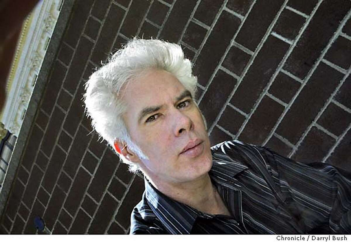 """jarmusch09_038_db.jpg Film director Jim Jarmusch outside hotel. Jarmusch in town for SF International film festival promoting his latest movie """"Coffee and Cigarettes."""" Event on 4/16/04 in San Francisco. Darryl Bush / The Chronicle MANDATORY CREDIT FOR PHOTOG AND SF CHRONICLE/ -MAGS OUT"""