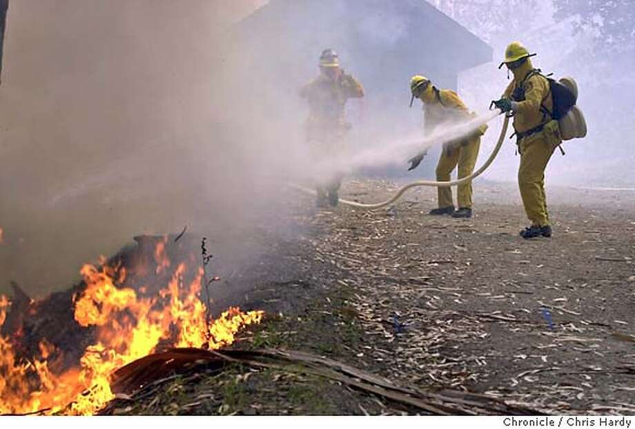 Brush fire near Tam junction in Marin that threatened some houses  at Marin Co.,CA on 5/9/04  San Francisco Chronicle/Chris Hardy Photo: Chris Hardy