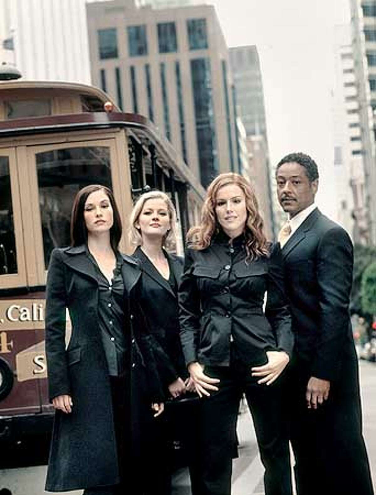 Giancarlo Esposito (right) has an interesting role, but some eyes won't wander from (from left) Chyler Leigh, Gretchen Moll and Kathleen Robertson.