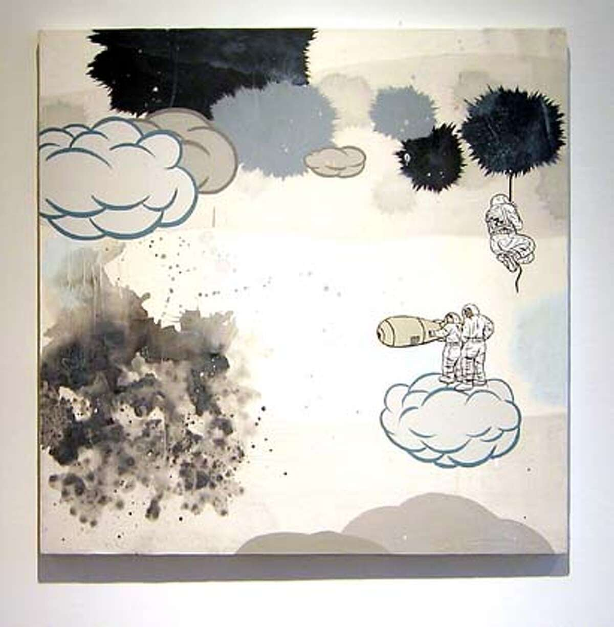 TRIBULATION NO. 22 by david Huffman, 2004 acrylic on canvas 36 x 36 inches