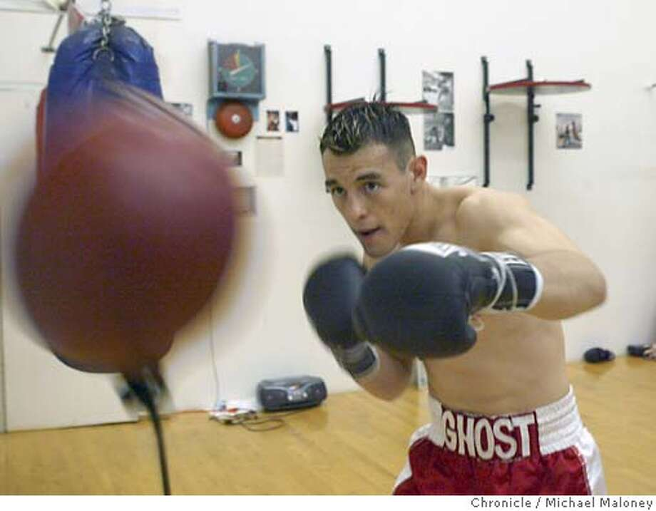"Robert ""The Ghost"" Guerrero is an up and coming bay area boxer. Born in Gilroy to a boxing family, Guerrero earned his nickname ""The Ghost"" for his tremendous defensive skills.  Photo by Michael Maloney / CHRONICLE Photo: Michael Maloney"