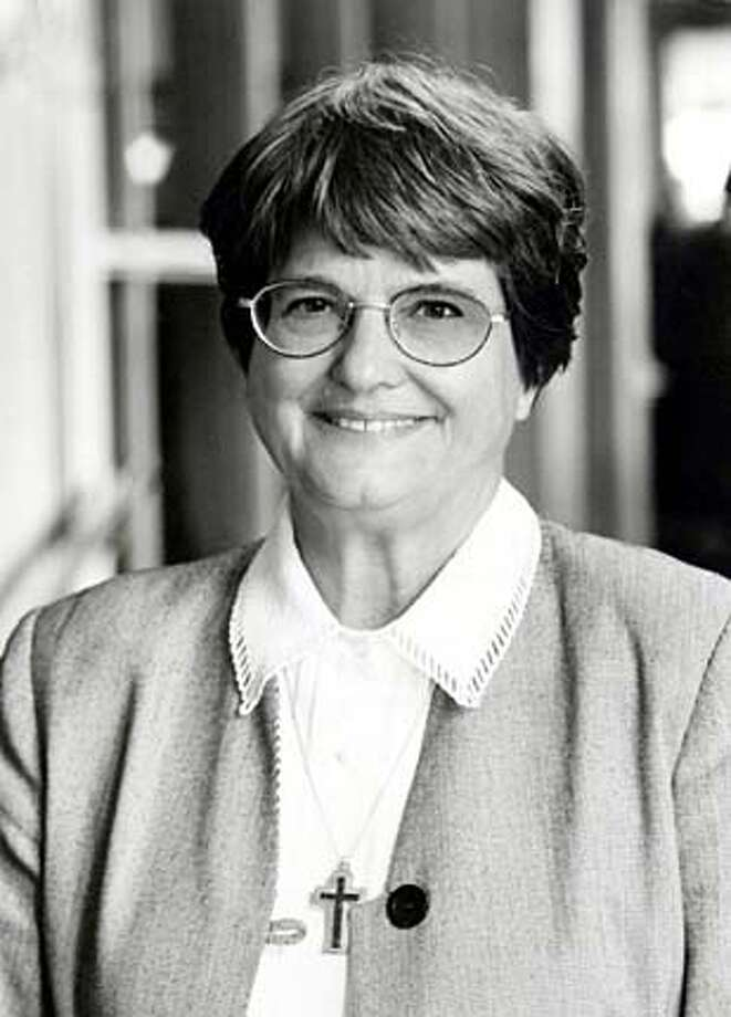"Sister Helen Prejean, author of ""Dead Man Walking,"" spoke at Notre Dame de Namur University's commencement ceremony in Belmont May 2."