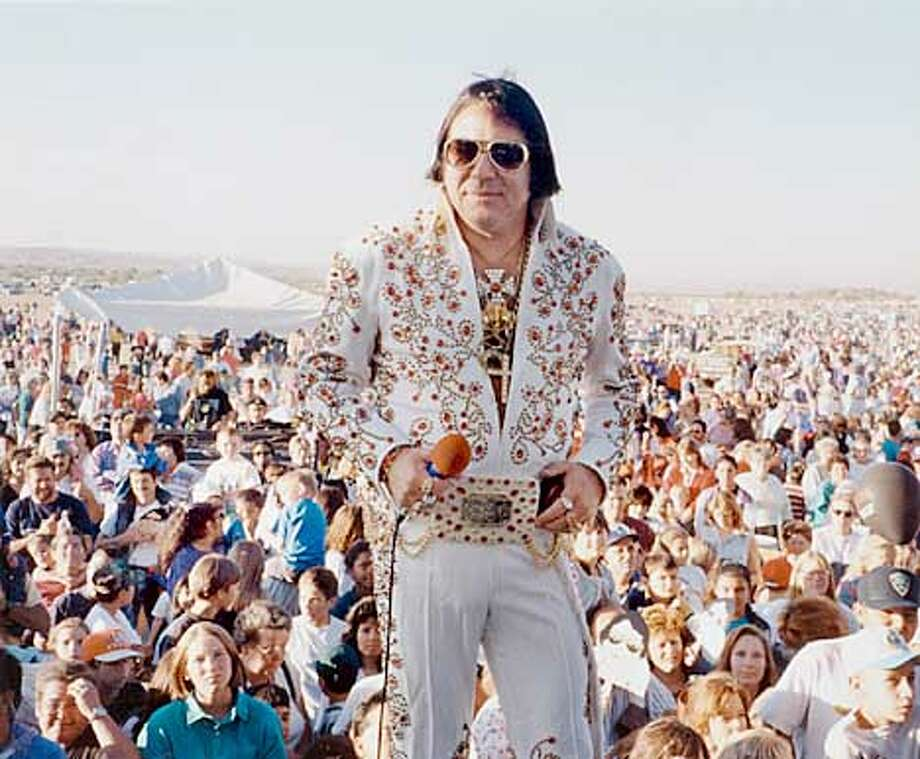 Lt. Palmini plays ELVIS at the New Mexico International Balloon Fiesta in Sept. 1999. Photo by Tanya Chulapa. Photo: HANDOUT