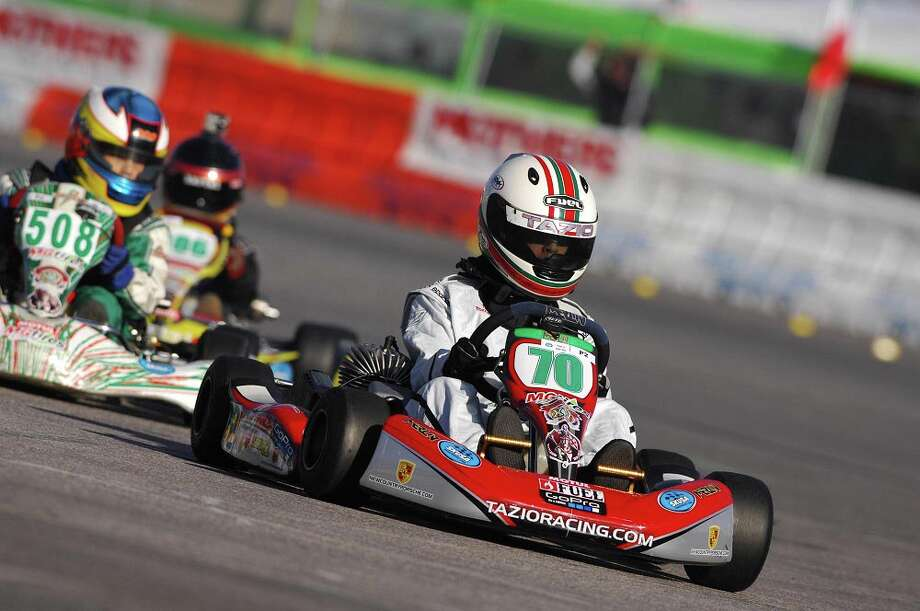Tazio Torregiani, a 13-year old Stamford resident, is competeing in the Junior Class on the National Go_kart racing circuit. Photo: Contributed Photo / Stamford Advocate Contributed