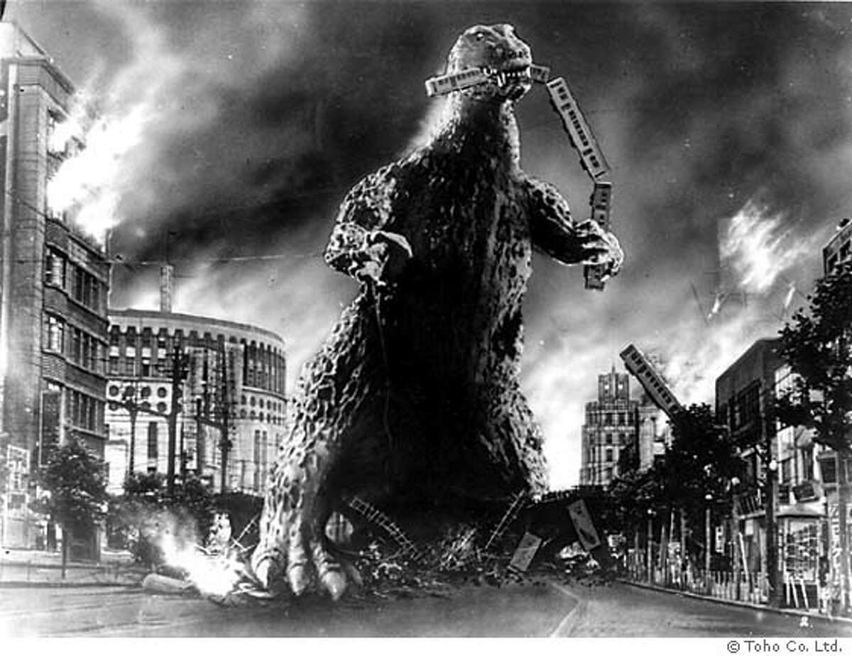 GODZILLA07 Godzilla in a scene from the film. � Toho Co. Ltd. ALL RIGHTS RESERVED