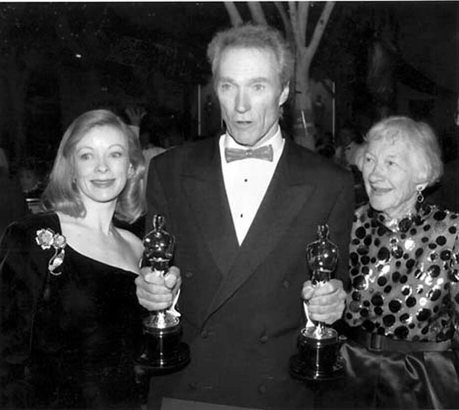 Clint Eastwood with Frances Fisher(left) and his mother Ruth Wood at the Governor's ball in 1993