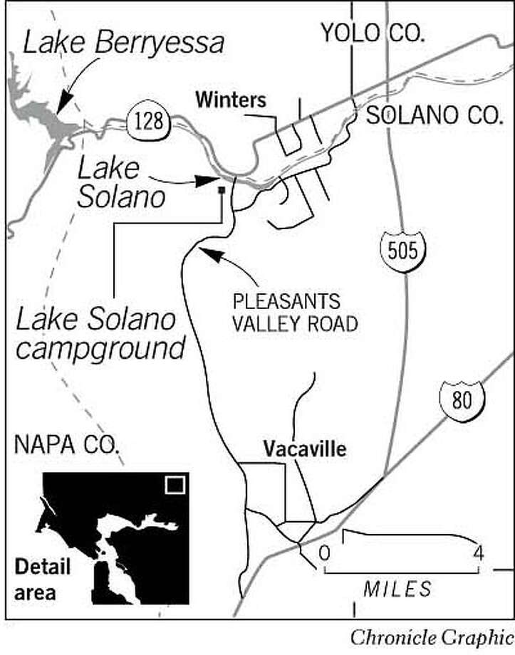 Lake Solano. Chronicle Graphic Photo: Chronicle Graphic