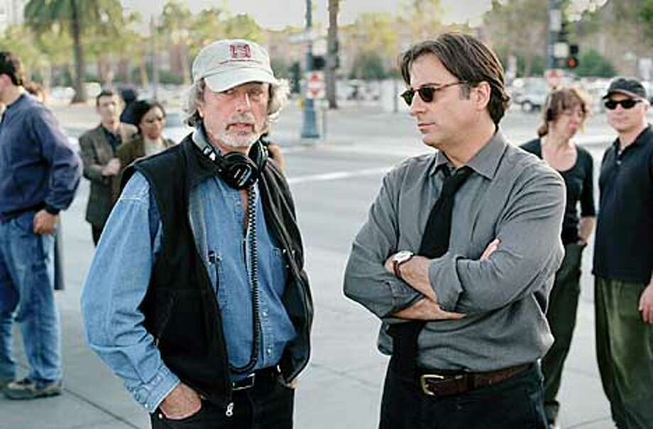 Director Phillip Kaufman with star Andy Garcia on the streets of San Francisco. Photo: HANDOUT