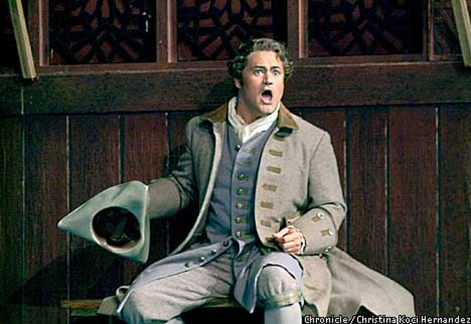 """CHRISTINA KOCI HERNANDEZ/CHRONICLE  Paul Groves as """"Belmonte.""""SF Opera performs """"Abduction from the Seraglio."""" Photo: CHRISTINA KOCI HERNANDEZ"""