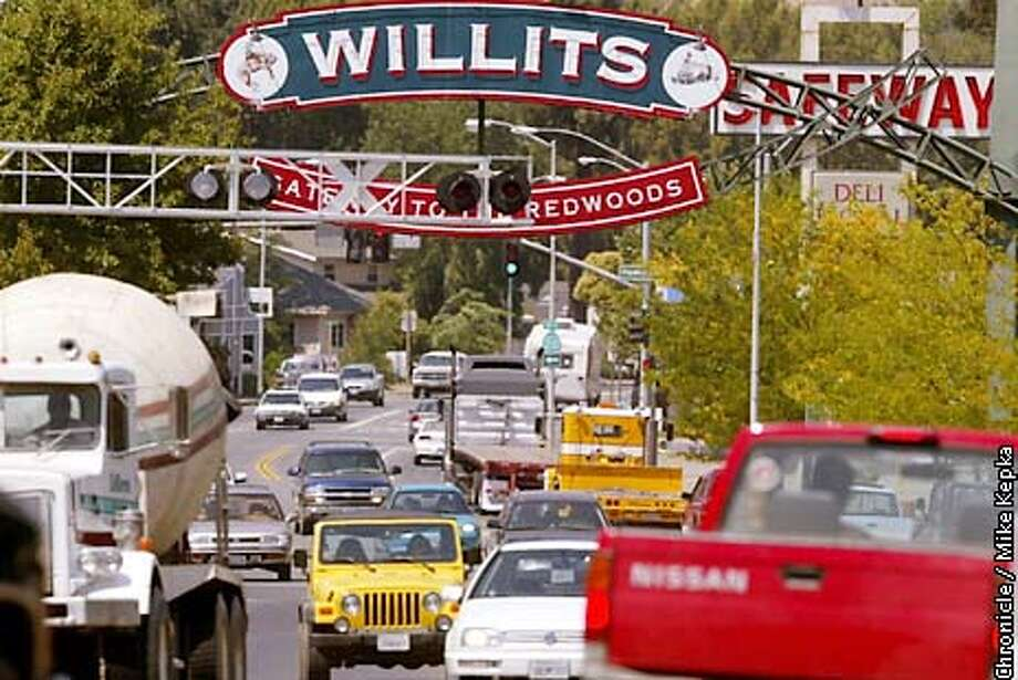 Downtown Willits, home of roughly 5,500 people is often pacted with traffic since its main street is shared with HWY 101. For 50 years CalTrans has been planning a bypass solution. BY MIKE KEPKA/THE CHRONICLE Photo: MIKE KEPKA