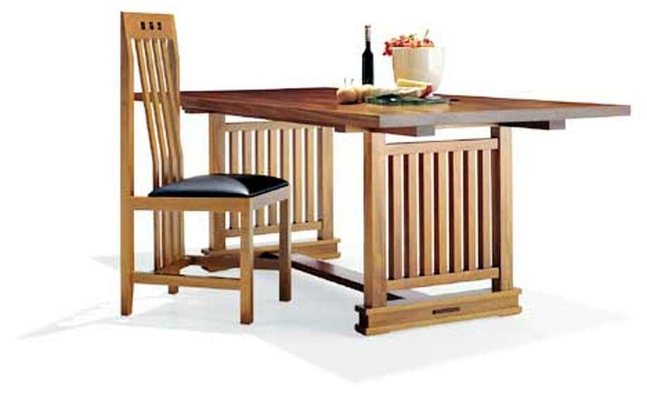 Prarie dining table from Berkeley Mills.  (HANDOUT PHOTO) Photo: HANDOUT