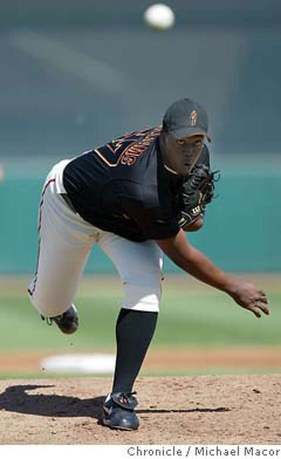 The Giants gave Jerome Williams the start against Texas. Spring training continues in the desert as the San Francisco Giants take on the Texas Rangers. GIants lost 8-2. event on 3/10/04 in Phoenix Michael Macor / San Francisco Chronicle Photo: Michael Macor