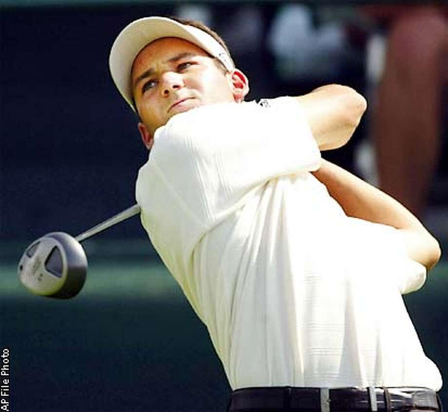 ** ADVANCE FOR WEEKEND EDITIONS AUG. 10-11 ** FILE** Sergio Garcia, of Spain, tees off on the first hole during the second round of The International at Castle Pines Country Club in Castle Rock, Colo., Friday, Aug. 2, 2002. For Garcia, the upcoming is the last chance to win a major and stake his claim as a serious threat to Tiger Woods. (AP Photo/Jack Dempsey,file) Photo: JACK DEMPSEY