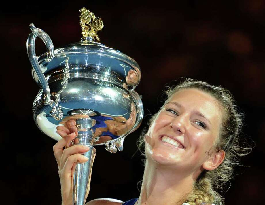 Victoria Azarenka's Australian Open win puts the 22-year-old from Belarus to the top of the women's rankings. Photo: AP