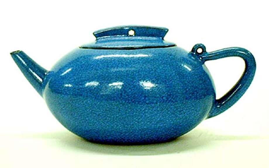 Company: Red & Green Company Yixing Clay tea pot. Contemporary design. Yixing clay is known as best clay for the tea brewing.  Name: Blue Egg Pot(Crakle Glazed) Price: $38.00  This image is for Sally Socolich's Bargain Hunter Column. The sale is scheduled for Mother's day weekend. (May6th to 8th)