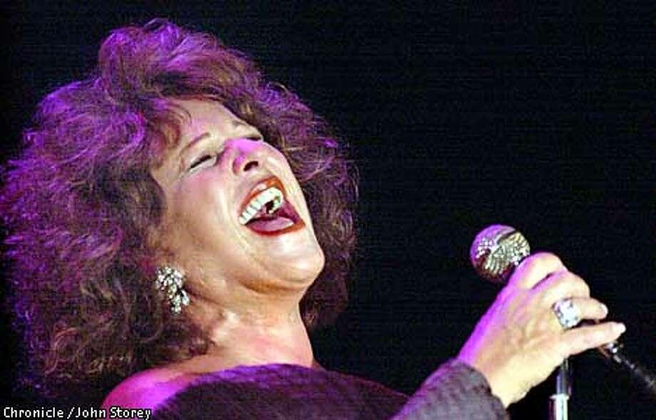 Singer Lainie Kazan at the Plush Room. Photo by John Storey. Photo: JOHN STOREY