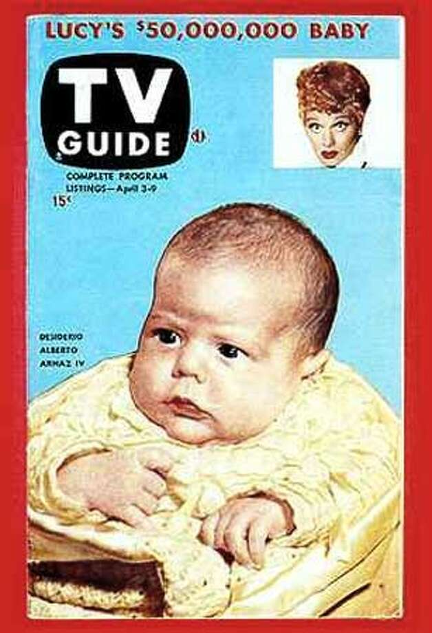 April 3,1953 cover - First Cover of TV Guide LUCY'S $50,000,000 BABY  (HANDOUT PHOTO) Photo: HANDOUT