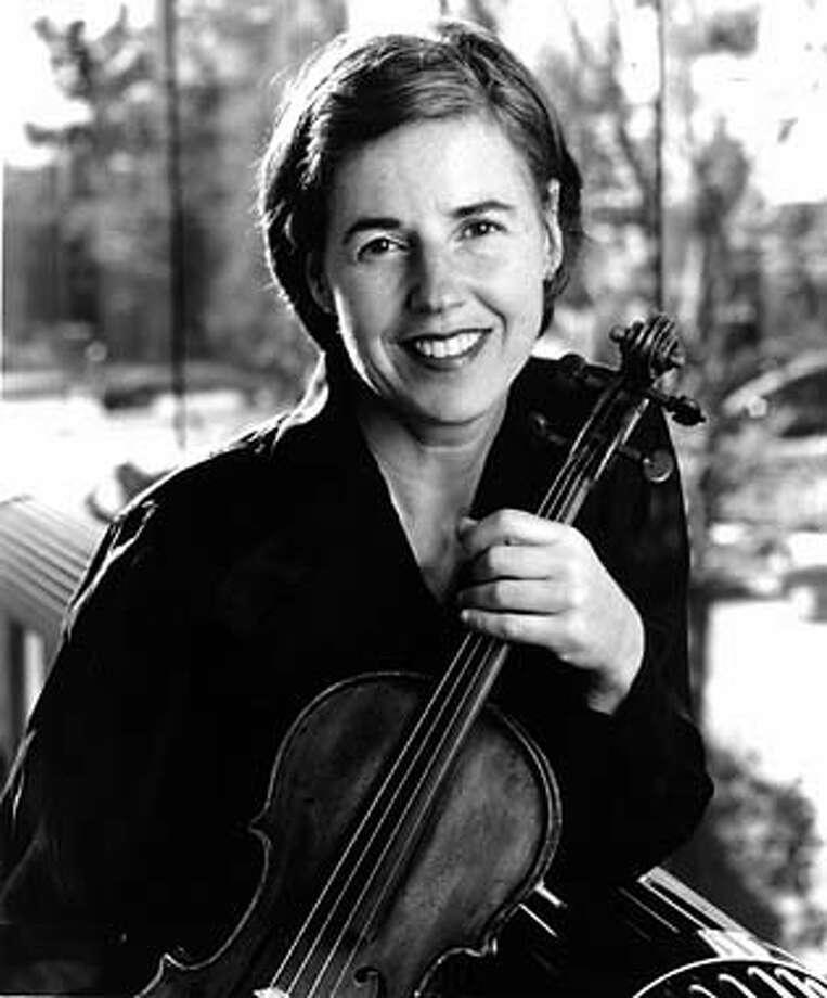 WALTHER10  Violinst Geraldine Walther. Geraldine Walther is the Symphony's principal violist.