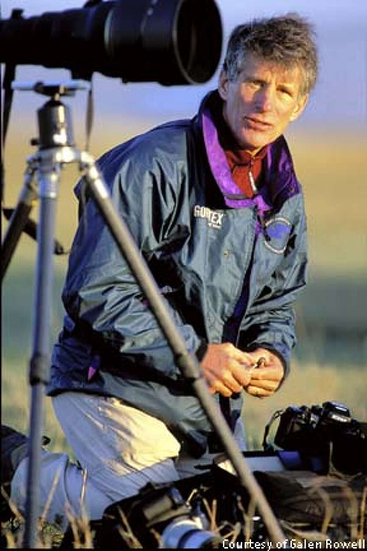Nature photographers Galen Rowell (shown here in a recent photo), along with his wife Barbara, were killed Sunday in a plane crash outside Bishop Calif. Photo Courtesy of Mountain Light Photography