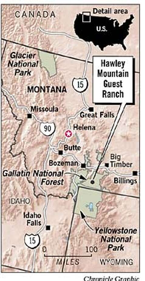 Hawley Mountain Guest Ranch. Chronicle Graphic
