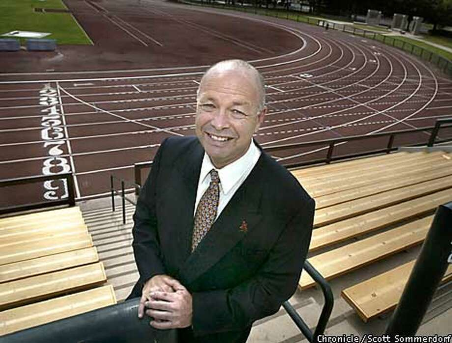 Robert Stiles, Director of the 2012 Olympic bid for the bay area. He is pictured at what would be the practice venue for the track athletes at Stanford University if the bay area gets the games. SF CHRONICLE PHOTO BY SCOTT SOMMERDORF