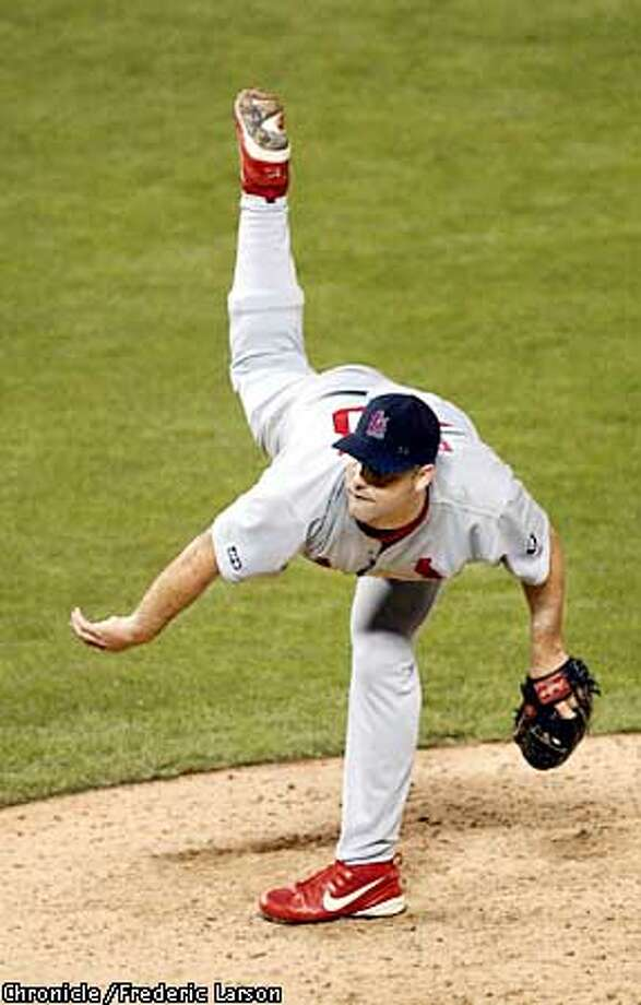 Cardinals pitcher #40 Andy Benes. The San Francisco Giants play the St. Louis Cardinals in game four of the National League Championship Series at Pac Bell Park in San Francisco, Ca. October 13, 2002. Giants lead the series 2-1. (Fredric Larson/SAN FRANCISCO CHRONICLE) Photo: Fredric Larson