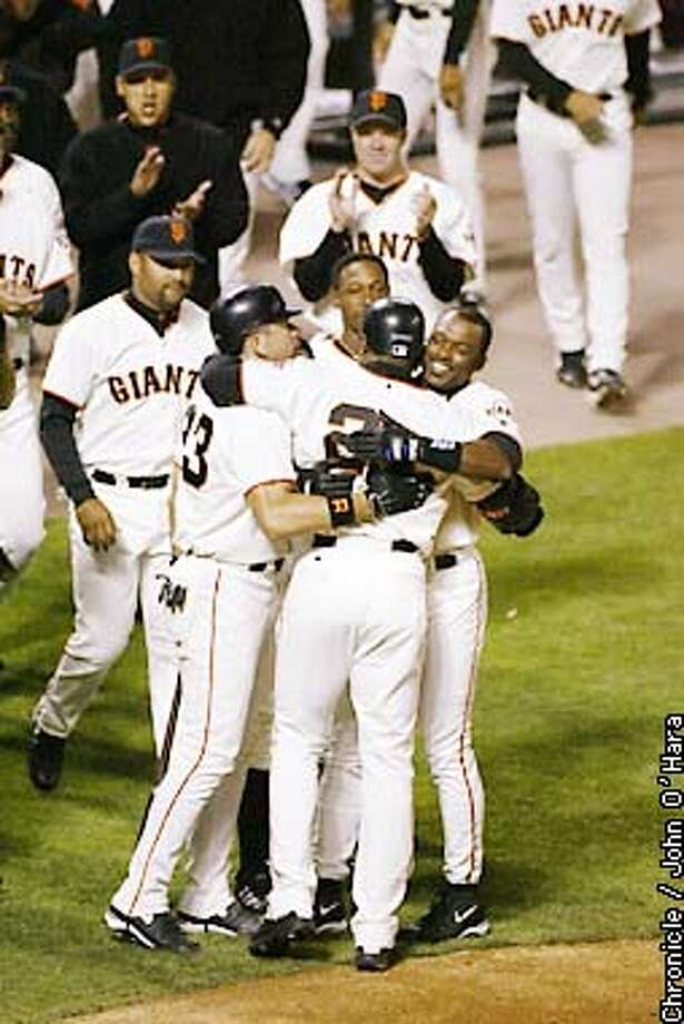 Giants v. Chicago Cubs. Barry Bonds hits his 600th home run. by John O'HARA/The Chronicle Photo: JOHN O'HARA