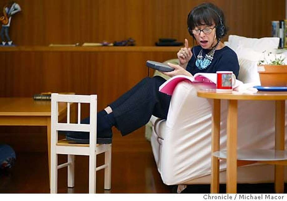 Rita starts off the morning listening to Italian opera to prepare for a role in an upcoming play at her home hig in the Berkeley hills. A day in the life of Actress Rita Moreno. From home to rehersals to performance, what it's like to be Rita Moreno. event on 4/24/04 in Berkeley Michael Macor / San Francisco Chronicle Photo: Michael Macor