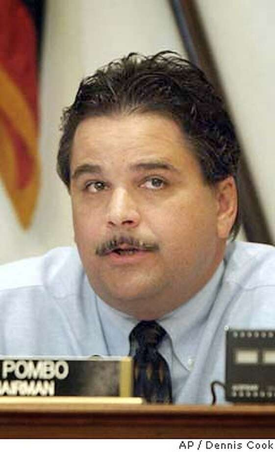 ** FILE ** House Resources Committee Chairman Rep. Richard Pombo, R-Calif., speaks during a hearing held by his committee, July 9, 2003, on Capitol Hill. Pombo has declared the Endangered Species Act ``failed'' and has announced he will begin hearings immediately to fix it. (AP Photo/Dennis Cook, File) JULY 9 2003 FILE PHOTO Photo: DENNIS COOK