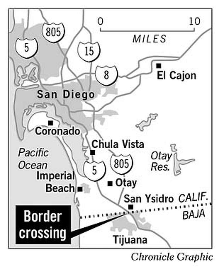 Border Crossing. Chronicle Graphic