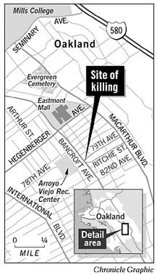 Site of Killing. Chronicle Graphic