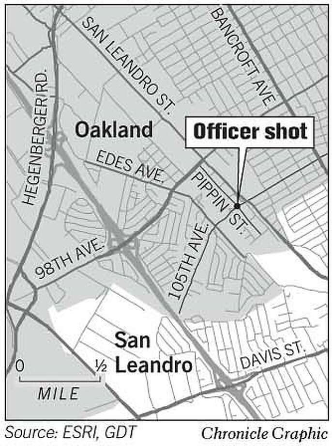 Oakland Officer Shot. Chronicle Graphic