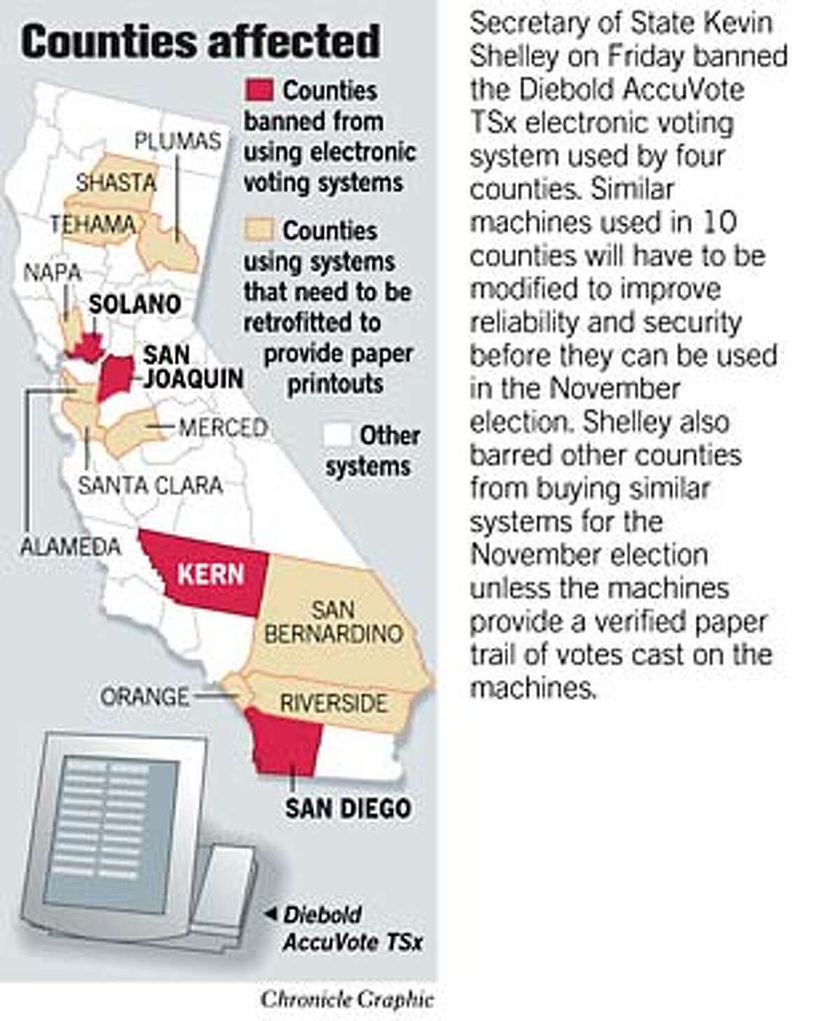 Counties Affected. Chronicle Graphic
