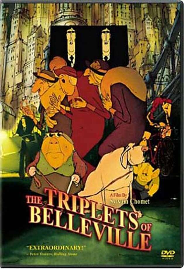 """The Triplets of Belleville"" (2003) – When her grandson, Champion, is kidnapped while competing in the Tour de France, Madame Souza and her dog set out to save him. Along the way, they meet an eccentric female singing trio called ""The Triplets of Belleville"" who might be able to help. Available June 1"