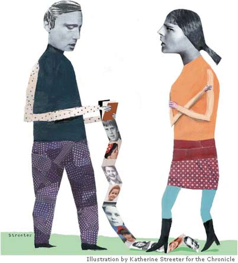 """More Than Two."" Illustration by Katherine Streeter for the Chronicle"