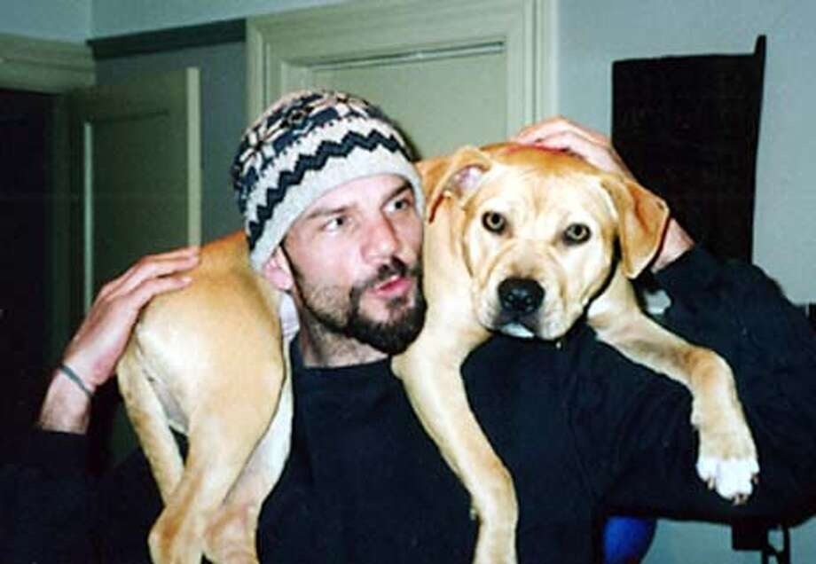 Guy Lowe and his dog Sophie.