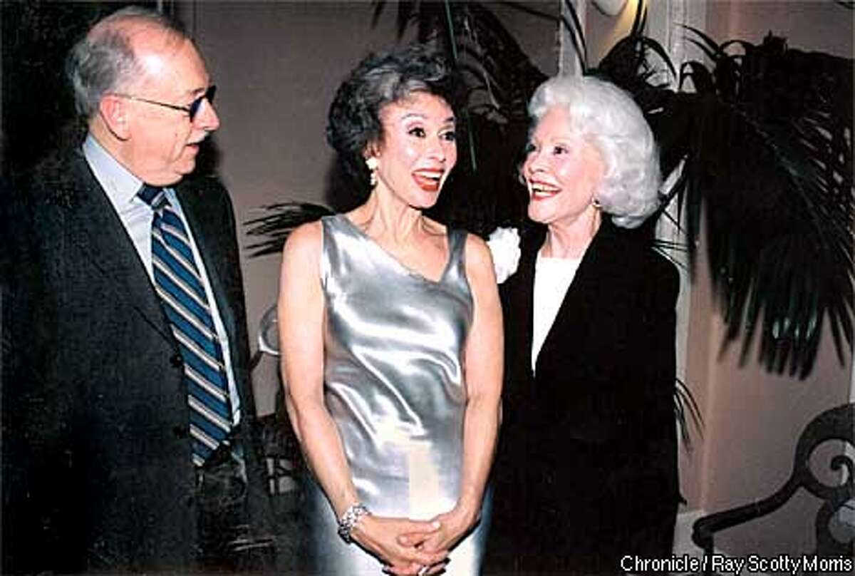 """Wilkes Bashford, Rita Moreno and Jeanne Taylor PHOTO BY: RAY """"SCOTTY"""" MORRIS/SPECIAL TO THE CHRONICLE"""