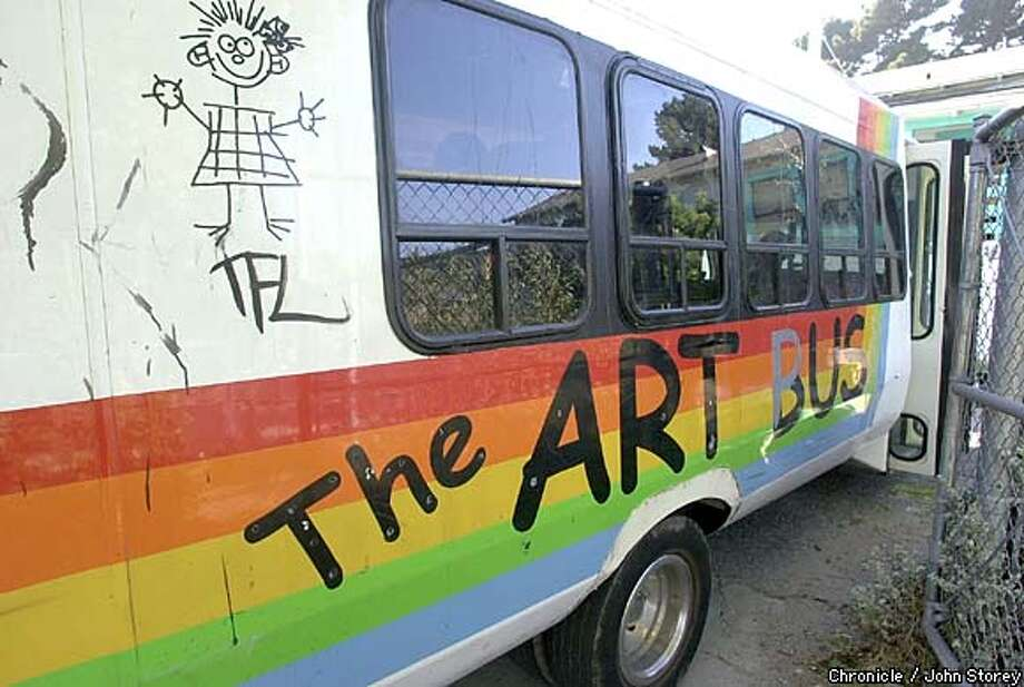 the art bus an art studio on wheels makes stops at some of the