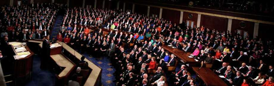 President Barack Obama delivers his State of the Union address Tuesday night on Capitol Hill. Photo: Evan Vucci / AP