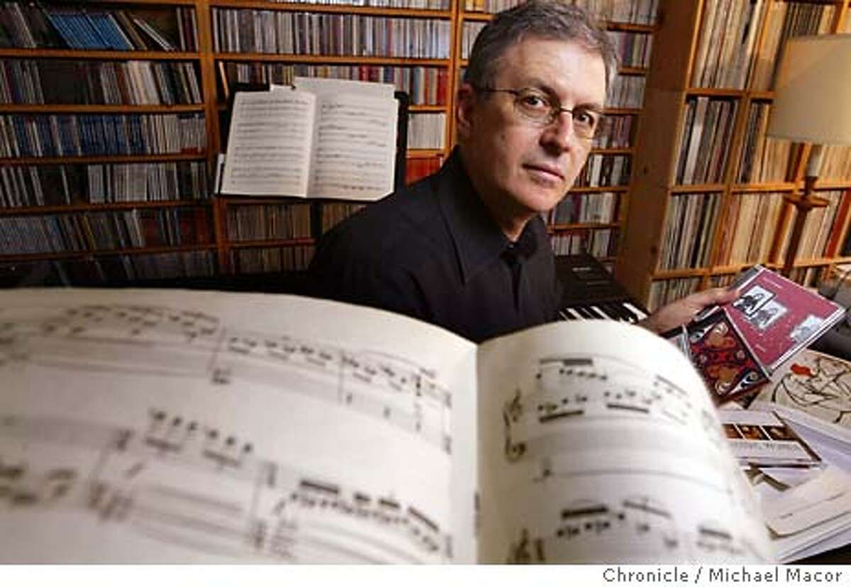"""Composer/founder/artistic director Charles Amirkhanian.The 10th Anniversary of the comtemporary music festival, """"Other Minds"""". event on 2/27/04 in El Cerrito Michael Macor / San Francisco Chronicle"""