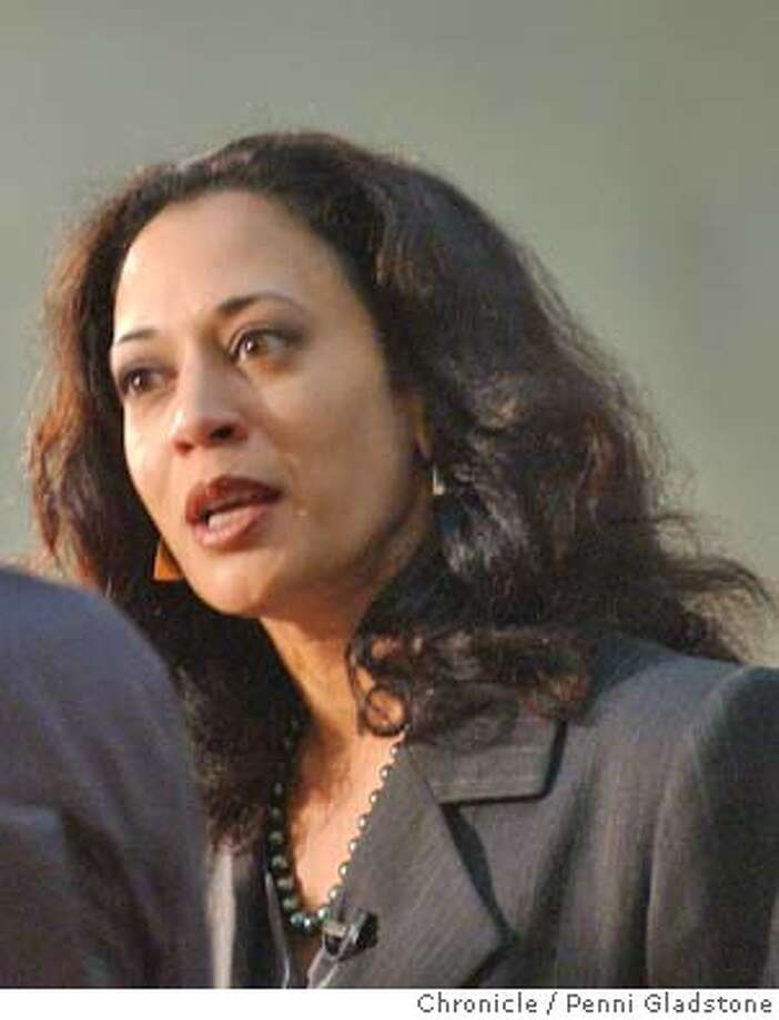 DAHARRIS142_pg.jpg  Kamala Harris the new DA. Day after election doing a TV interview inside city hall.  12/10/03 in San Francisco.  PENNI GLADSTONE / The Chronicle  ALSo RAN: 03/22/2004 &quo;Calendar Girls&quo; stars Helen Mirren (second from left) and Julie Walters (third from left) between Trisha Stewart (far left) and Angela Baker, who inspired the lead characters in the film. Protecting freedoms: San Francisco's new district attorney, Kamala Harris, believes in protecting citizens from violent crime without violating their constitutional freedoms. ProductName	Chronicle ProductName	Chronicle San Francisco District Attorney Kamala Harris has opened the third investigation of the city's recent mayoral election. Sen. Dianne Feinstein Sen. Dianne Feinstein Photo: PENNI GLADSTONE
