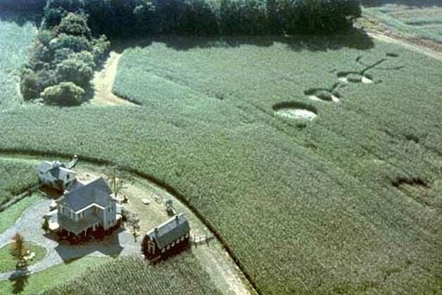 FFT-1 - The lives of the Hess family are changed forever after they find a message -- an intricate pattern of circles and lines carved into their crops in the thriller from writer-director M. Night Shyamalan, �Signs.� (HANDOUT PHOTO) Photo: HANDOUT