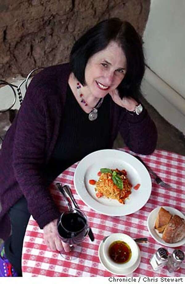 Event on 2/17/04 in Sonoma.  Cookbook author Paula Wolfert at the Swiss Hotel restaurant, 18 West Spain Street, Sonoma. For Cook's Night Out column in the Pink Chris Stewart / The Chronicle Photo: Chris Stewart
