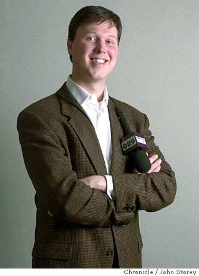 Dave Flemming is the San Francisco Giants new radio broadcaster and at age 27, the youngest broadcaster in the Major Leagues. 1/27/04 in San Francisco. John Storey / The Chronicle Photo: John Storey