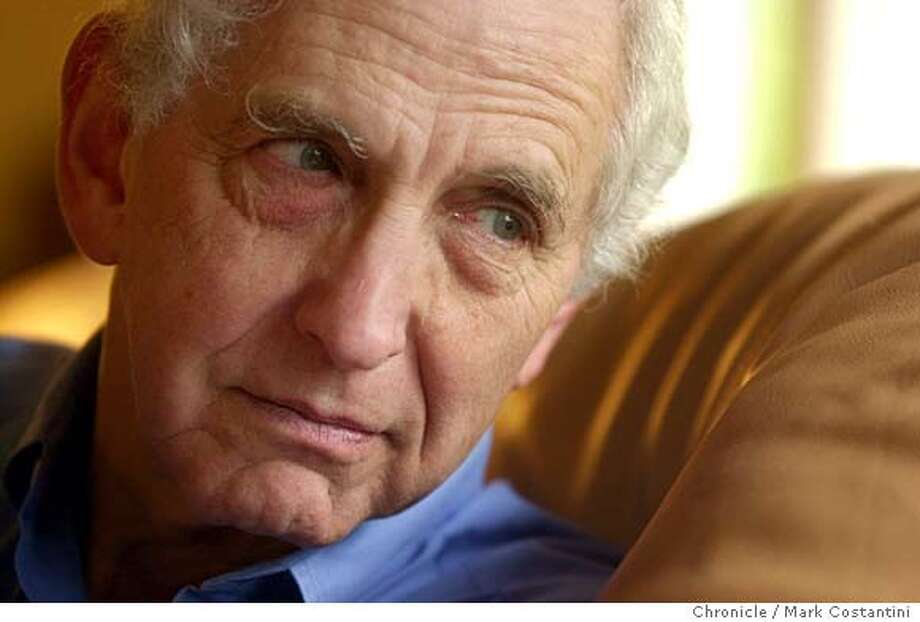 ELLSBERG29_0076.JPG Photo taken on 1/26/04 in Kensington. Daniel Ellsberg, pictured here at his home in Kensington, released the Pentagon Papers about the Vietnam War and is now speaking about the similarities to the Iraq war.  CHRONICLE PHOTO BY MARK COSTANTINI Photo: MARK COSTANTINI