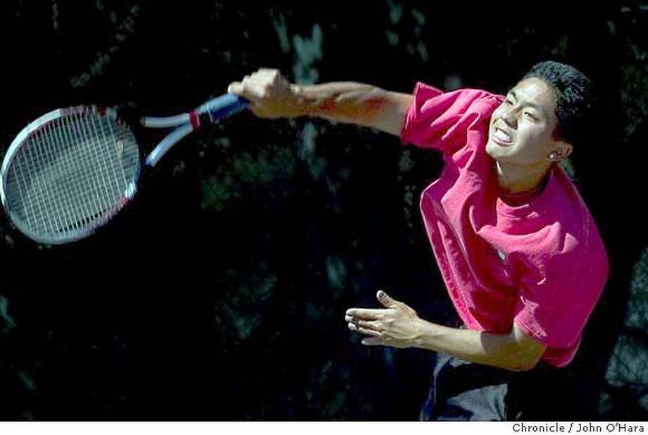 Carlmont High School, 1400 Alameda . Belmont,CA  Aragon H.S. V/S Carlmont H.S. Tennis  Aragon player John Hayashi, record 19-1. Photo/John O'Hara Photo: John O'Hara