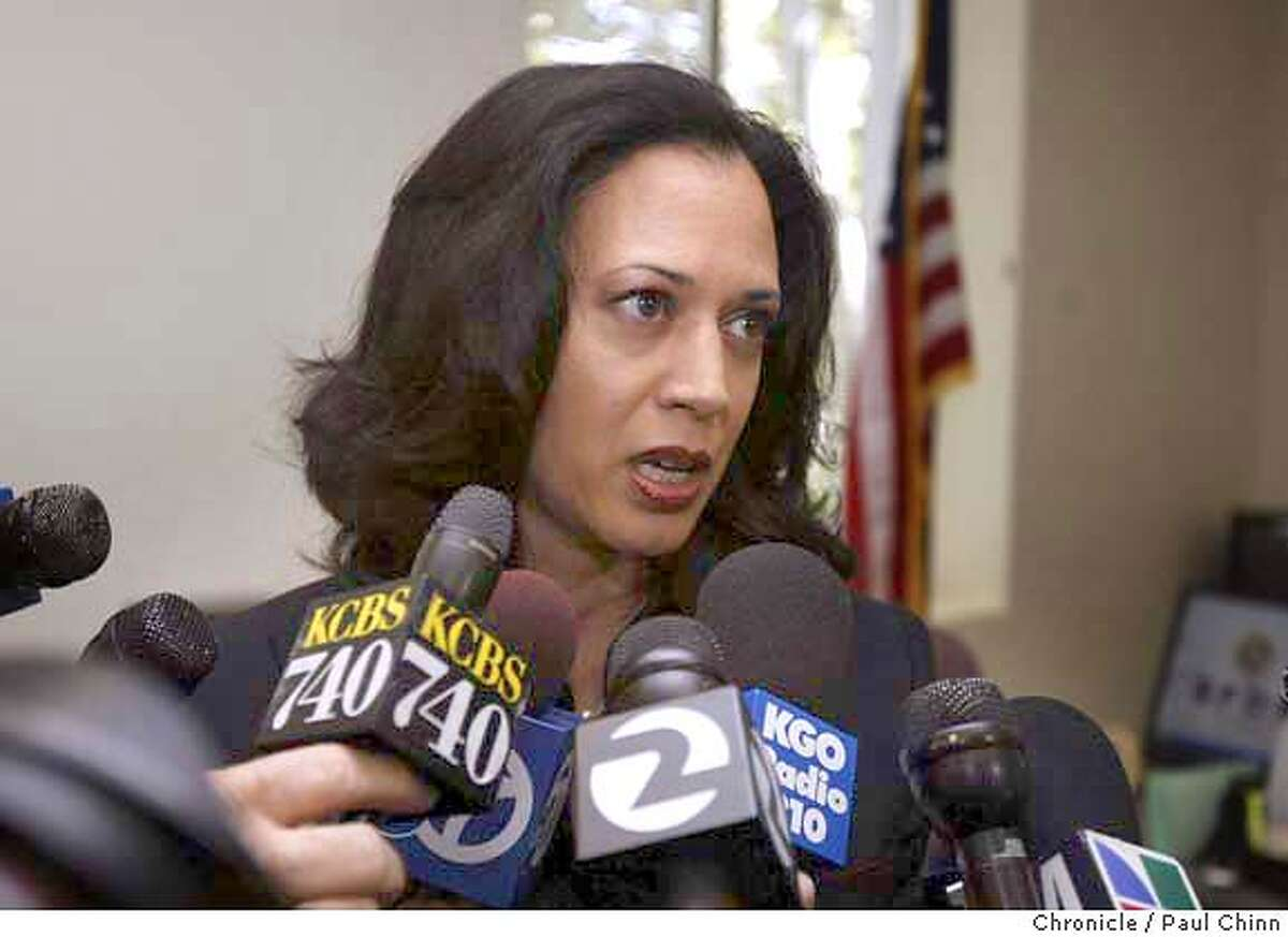 District Attorney Kamala Harris says she will not seek the death penalty or recuse herself from the case despite the SFPOA's request to do just that. The SF Police Officer's Association and DA Kamala Harris hold separate news conferences to comment on police officer Isaac Espinoza's shooting death on 4/21/04 in San Francisco. PAUL CHINN/The Chronicle