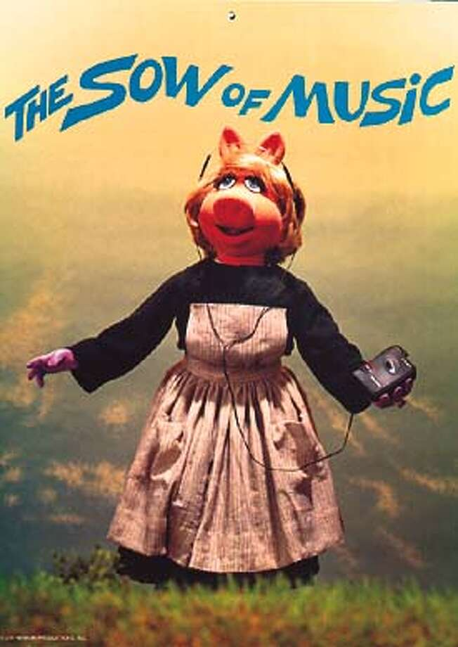 """Muppet Movie Parodies"" was a 1999 calendar featuring, among other things, Miss Piggy a la Julie Andrews for March."