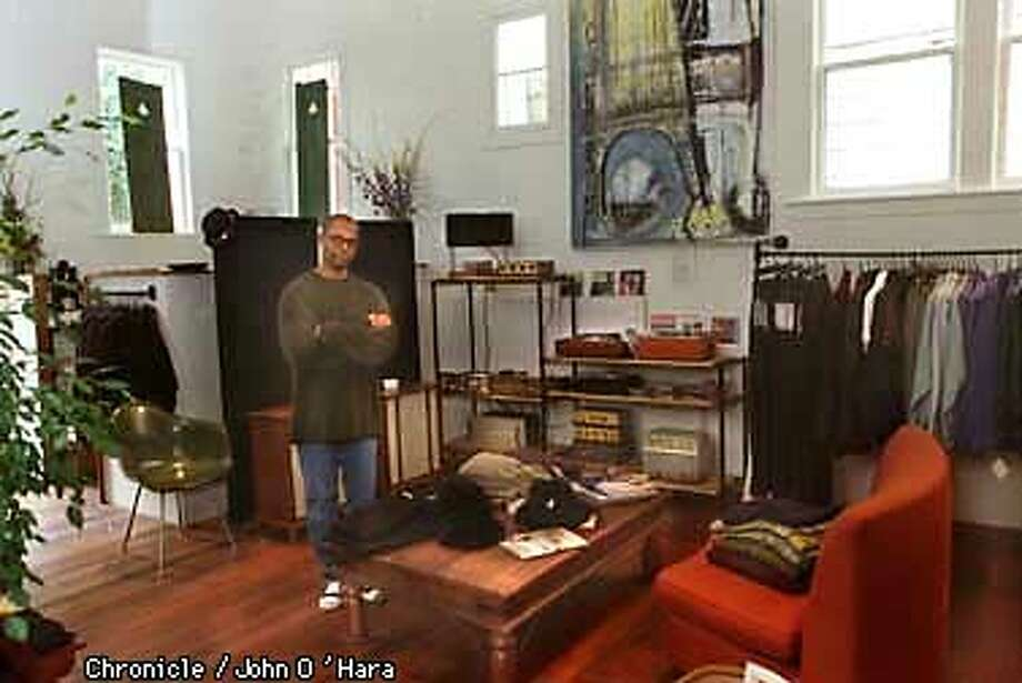 Leon Pleasant and his vintage Hi-fi equiptment and other items for sale in his new shop, located at 4229 18th st. in the Castro.  Photo by...........john O'Hara